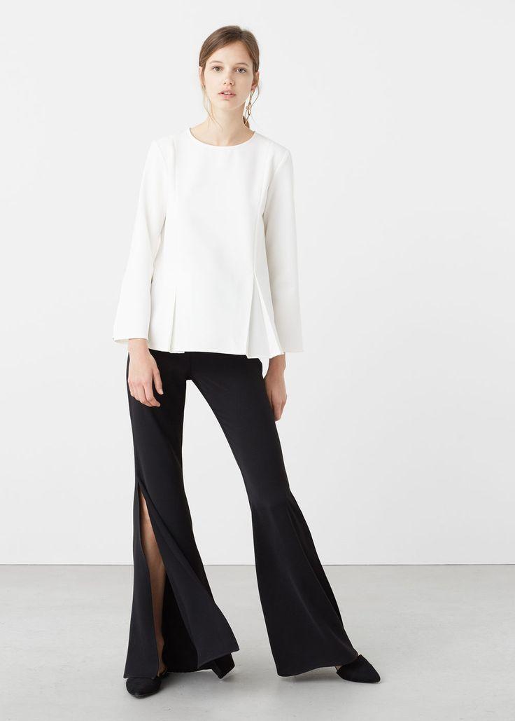 Pintuck detail blouse | MANGO