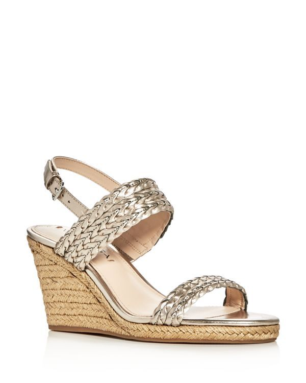 Via Spiga Indira Metallic Espadrille Wedge Sandals