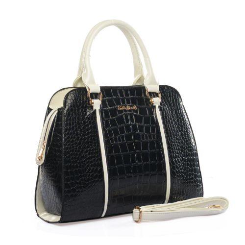 Γυναικεία Τσάντα Croco, Sally Young SY1490 Black