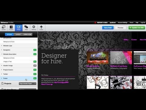 Website in 5 minutes with Behance ProSite