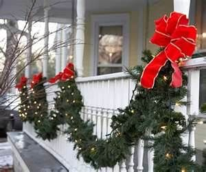 Outdoor Christmas Lights Decorating Design Glowing Garland Outdoor ...