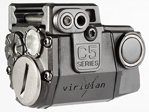 Viridian C5L Universal Green Laser Sight and Tac Light for Sub-Compact Handgun Pistols, ECR Instant On Technology:   The Viridian C5L is a universal green laser sight and tactical light for any pistol or rifle with a rail. The compact green tactical laser sight offers a highly accurate and visible target whether it is day or night. Green lasers are most visible to the human allowing you to aim at your target faster and at a greater distance than any red laser sight. The C5L is powered ...