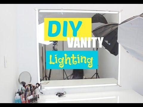How to : DIY Vanity Lighting   Beautymarqued - YouTube