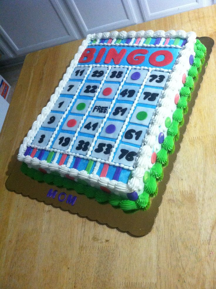 26 Best Images About Bingo Cakes On Pinterest A Well
