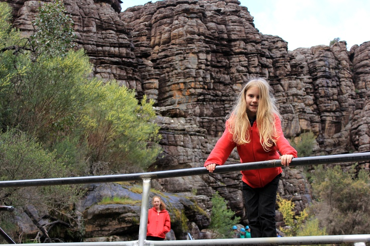 Sarah - 'Grand Canyon' section of Grampians walk to the Pinnacle.