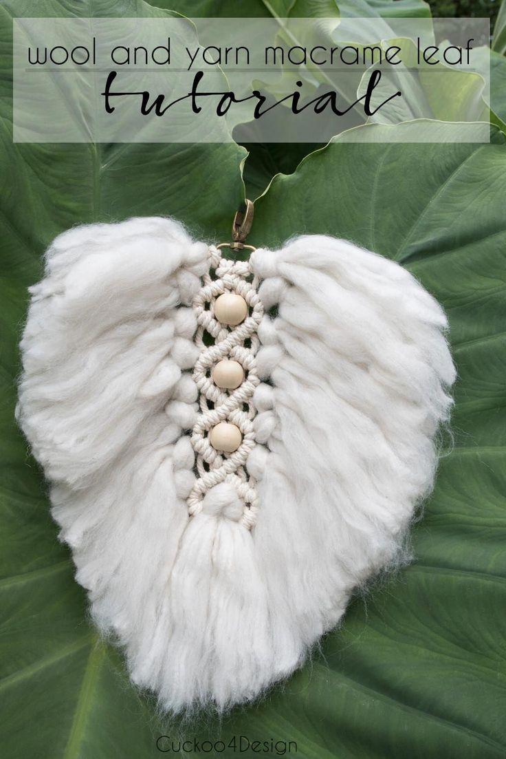 beads DIY EASY Leaf Macrame Tutorial beads DIY