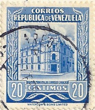 Venezuela Stamp Collection | Venezuela - Stamp 1958, Blue Hotel, Caracas, 20 Centimos | Flickr ..