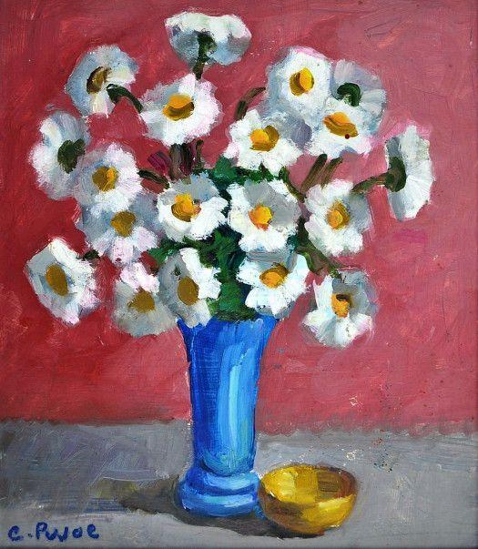 Vaso de flores azul Colette Pujol (Brasil, 1913-1999) óleo sobre tela, 40 x 50 cm