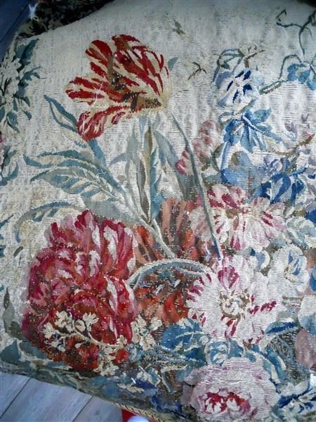 SECOND AUBUSSON  TAPESTRY ANTIQUE FRENCH 17TH-CENTURY   CHATEAU WINE BORDEAUX