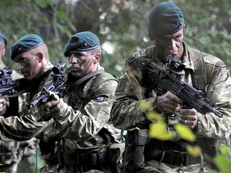 Royal Marine Commandos.