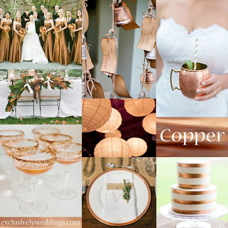 66 best INSPIRING TONES WEDDINGcopper coffe images on Pinterest
