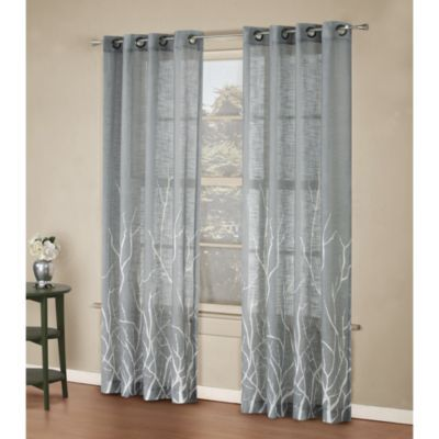 Alton Print Grommet Window Curtain Panel Home