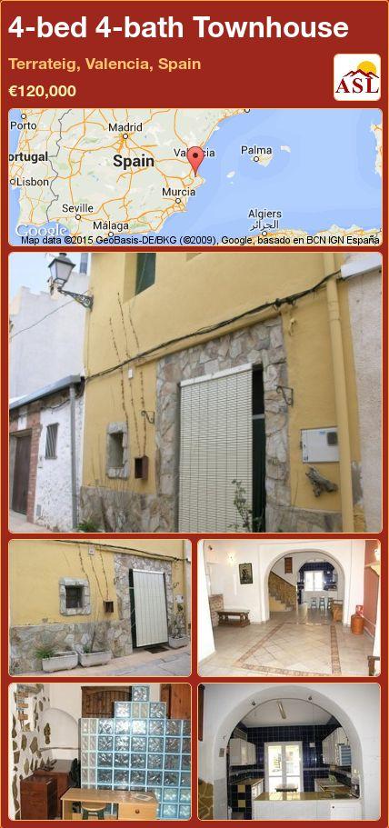 4-bed 4-bath Townhouse in Terrateig, Valencia, Spain ►€120,000 #PropertyForSaleInSpain