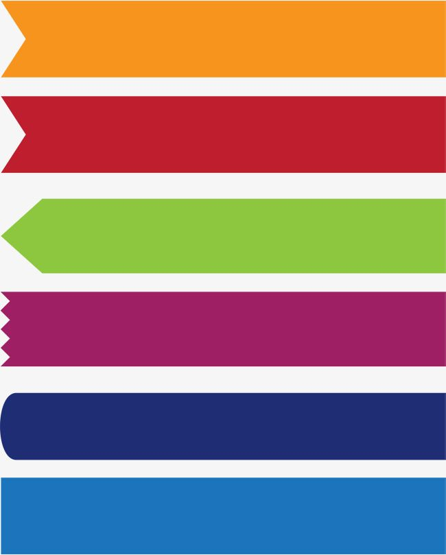 colorful banner banner clipart