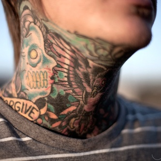 17 best images about neck throat tattoos on pinterest for Chest and neck tattoos