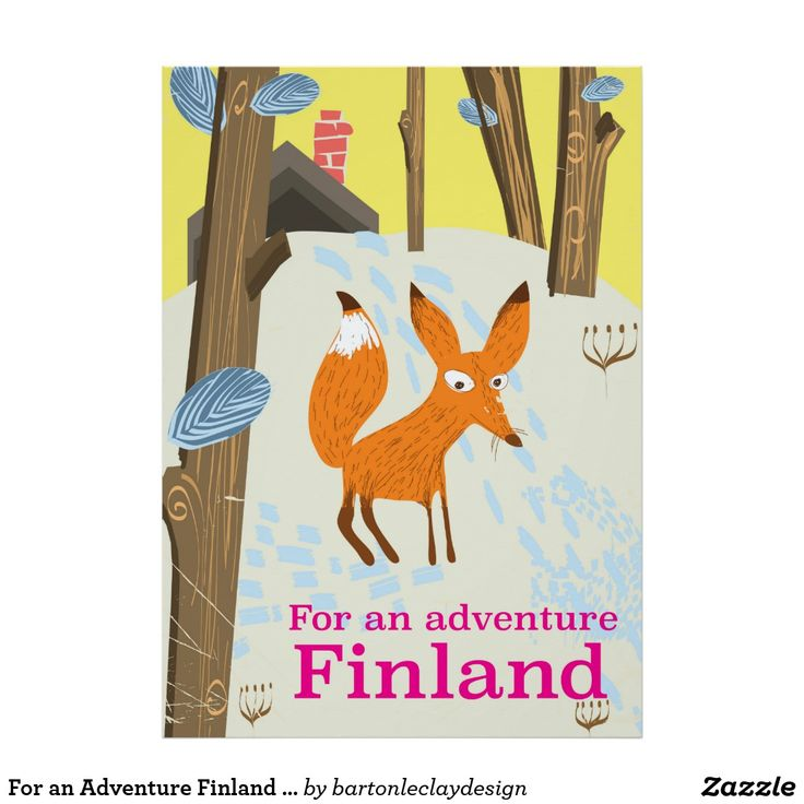 For an Adventure Finland retro travel poster