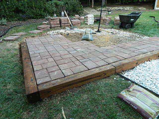 Great Easy Paver Patio Ideas Lowes Paver Patio Brick Paver Patterns Diy Brick Paver Patio Diy Patio Pavers Fire Pit Patio Diy Stone Patio