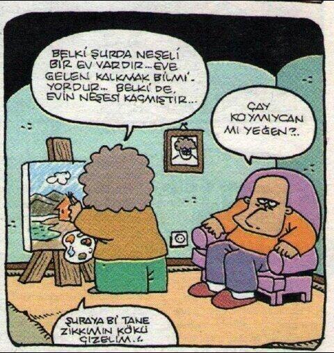 Bob ross resim paint tuval Komedi karikatür dram komik karikatürler belki şurada vardır bonus kafalı adam trt2