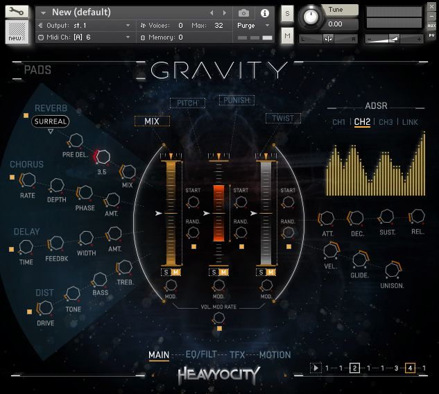 Heavyocity Gravity Music Composition Software | UI Case Study - PERCEPTION