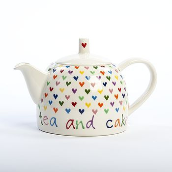 Personalised Love Heart Teapot So Cute & Colourful - I adore it <3<3<3