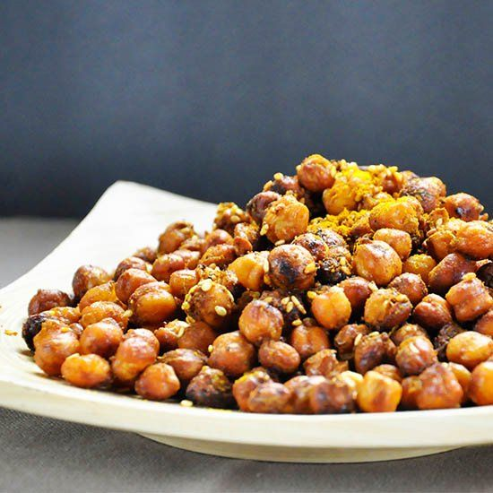 Spicy Oven-Roasted Chickpeas Snack.#recipes.