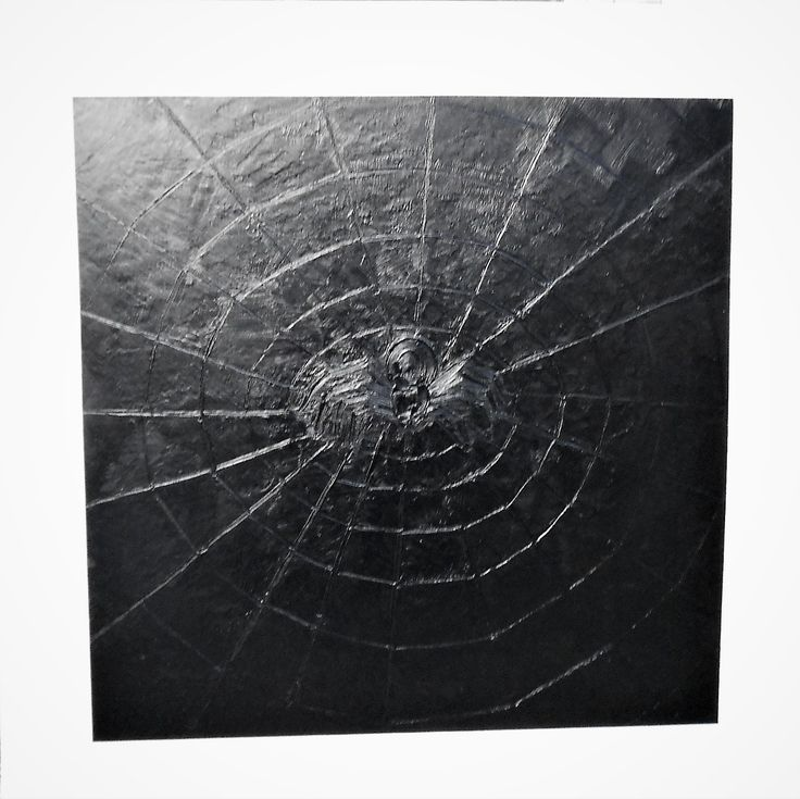 BLACK SQUARE WITH GREEN SPIDER Projectionism Style of Art in Painting by Esteban Simich.