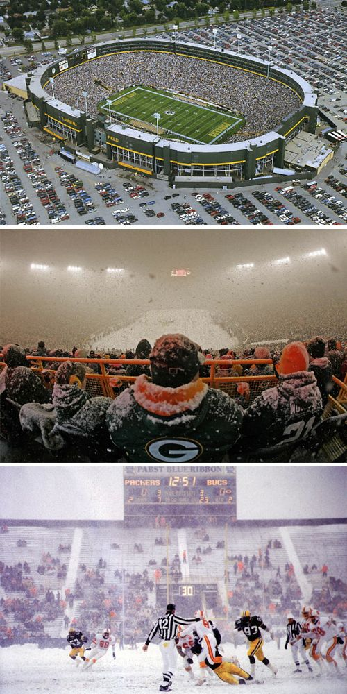 No other professional sports franchise in North America has a greater connection to its community than the Green Bay Packers. That's because the team is owned by a corporation—Green Bay Packers, Inc.—in which every single citizen of Green Bay, WI, is a shareholder. And Lambeau Field is their boardroom. Built in 1957 and named after the team's founder, Curly Lambeau, the stadium seats 73,128 people, which is about 75% of the population of the entire city. You know the stadium you are walking…