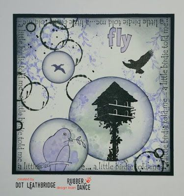 * Rubber Dance Blog *: Greeting card with Bird stamps