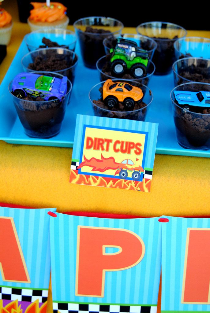 MONSTER TRUCK Party - Monster Truck FOOD LABELS