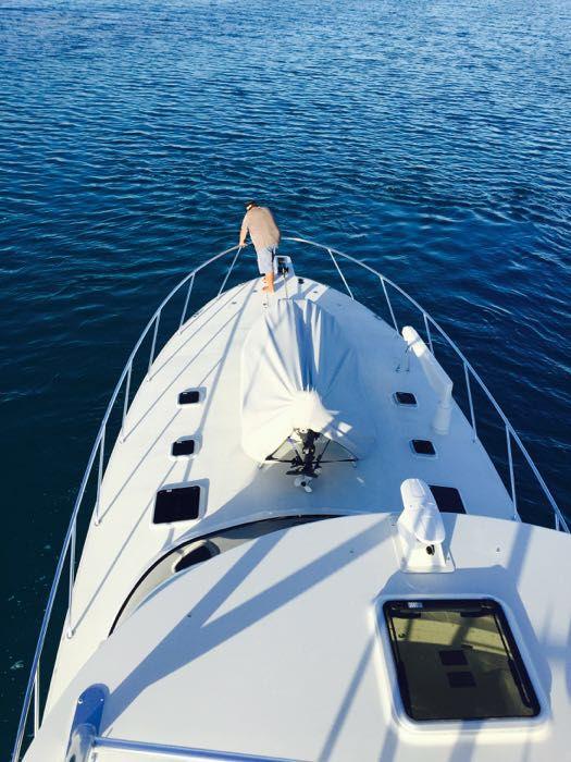 Luxury boat on charter