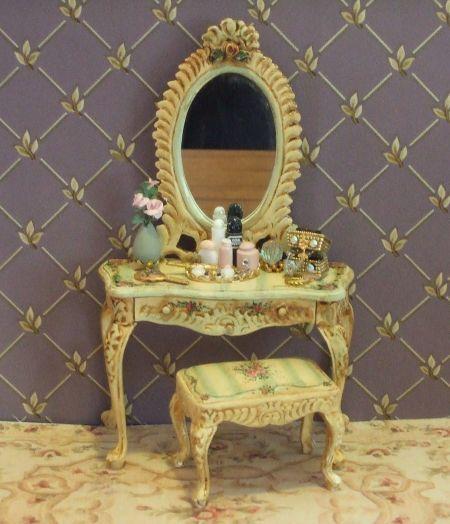 victorian style vanity set. Victorian Stripe Vanity Set 144 best Dollhouse Miniature Dressing table images on Pinterest
