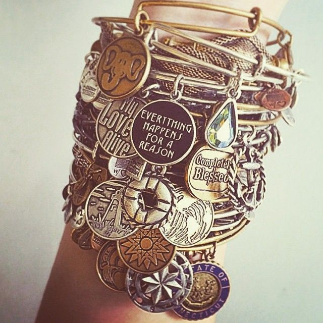 Everything happens for a reason! #motivation #quote #jewelry #alexandani #charmedarm