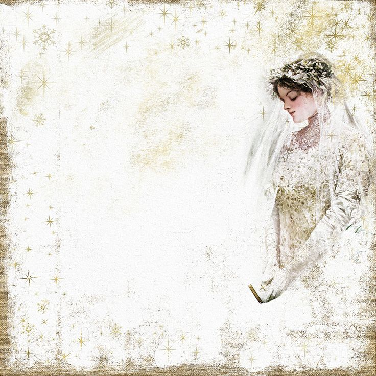 Winter Wedding with Harrison Fisher art Bride