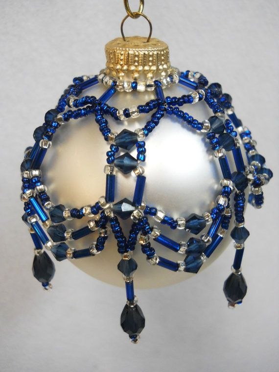 PATTERN ONLY Beaded Christmas Ornament by HouseofWhisperingFir