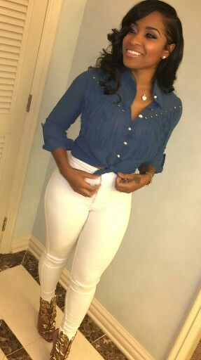 Simple, but yet cute look!~Toya Wright