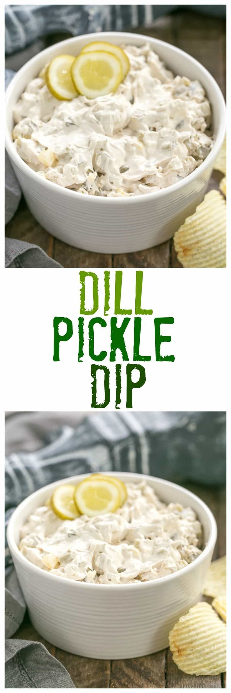 Easy Dill Pickle Dip | Get prepared for rave reviews! Only 5 ingredients! @lizzydo