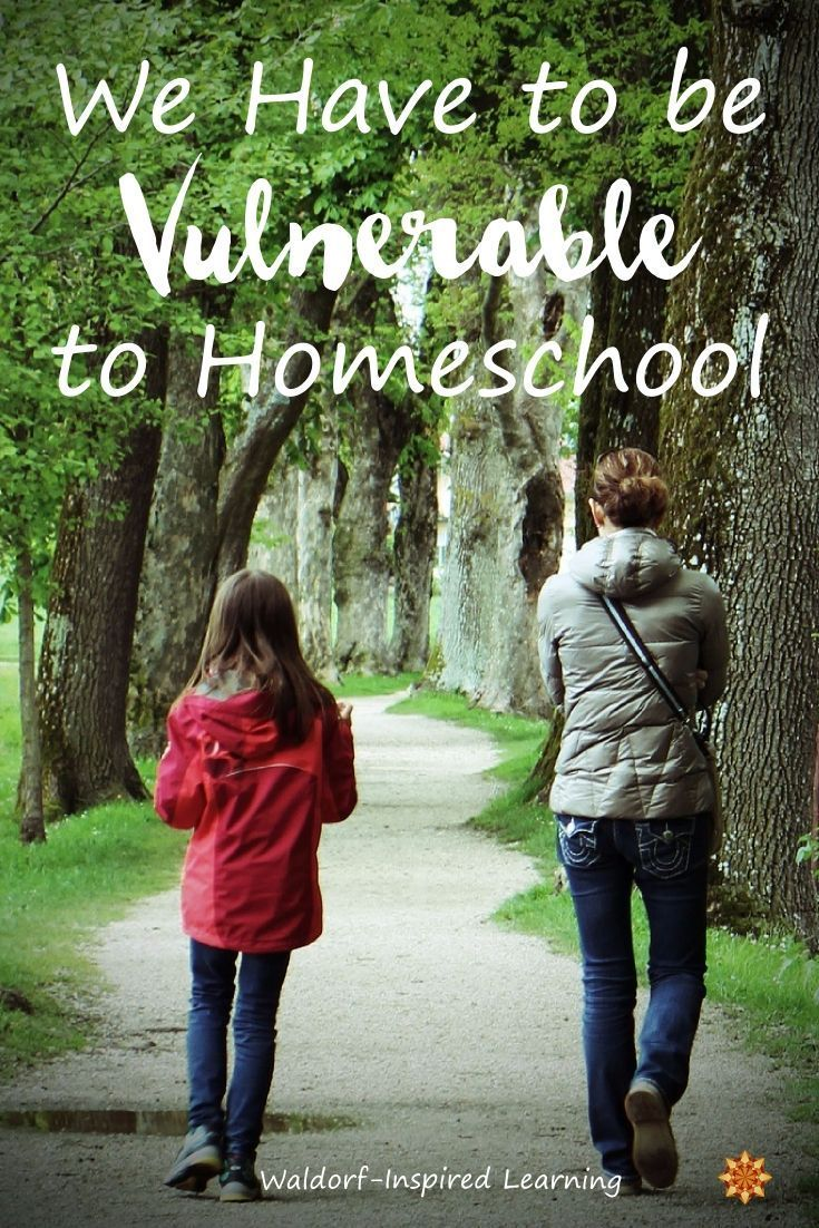 We Have to be Vulnerable to Homeschool. Yes, it's true. To allow ourselves to be imperfect and to be seen.  And in Waldorf homeschooling in particular, all of our flaws and shortcomings when it comes to the lively arts are right there to greet us every day! Along with our other imperfections.  Whether we like it or not, homeschooling involves being vulnerable. Check out these tips for managing vulnerability while homeschooling.