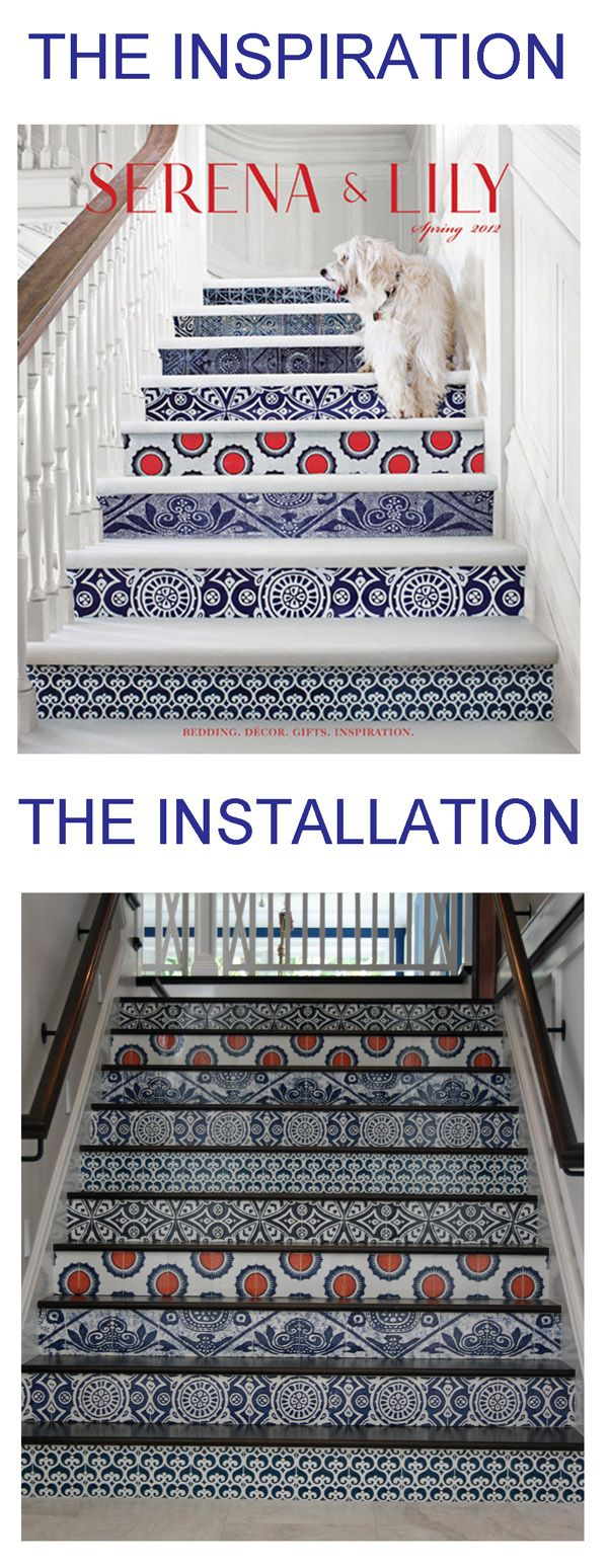 83 best staircases painted tiles images on pinterest stairs lily catalog cover featuring paper covered risers mizner industries designed and produced custom hand painted tiles for this client in fort lauderdale