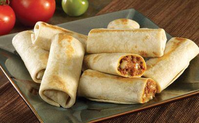 Mini Burritos de Frijol y Queso