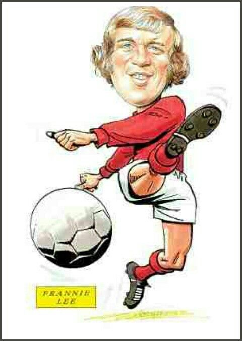 England striker Francis Lee in cartoon mode.