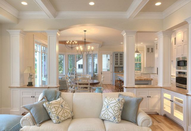 Wall Color: SW Antique white. The cabinets are 14″ deep. columns 10 1/2″ . wood top is 17″ deep and is 33″ off the floor.: