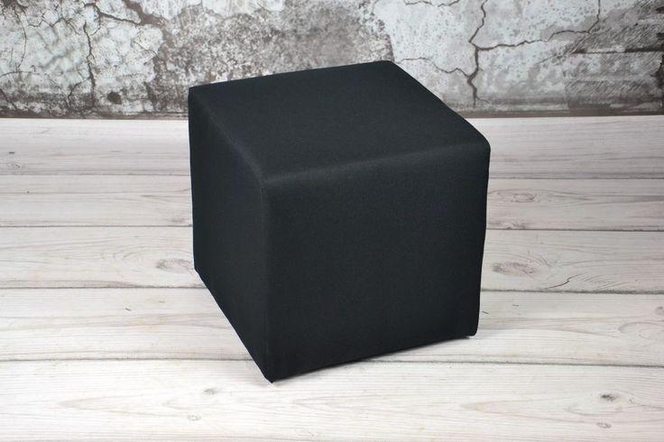 Sitzhocker 40x40 SAWANA Schwarz Sitzwürfel Schemel Fußhocker Cubic Fußbank Puff