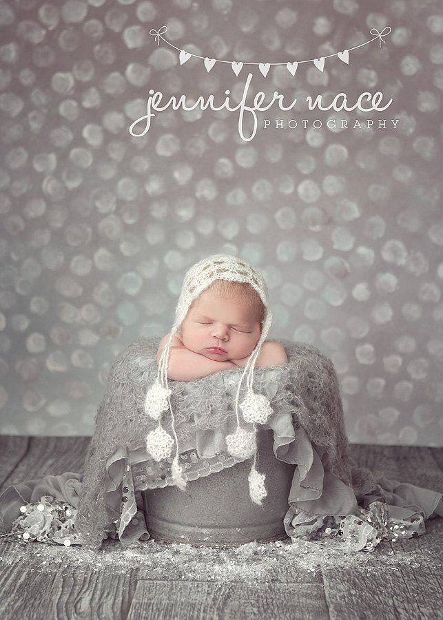 Light Gray Shell Mohair Newborn Baby by PeekABootiqueDesigns