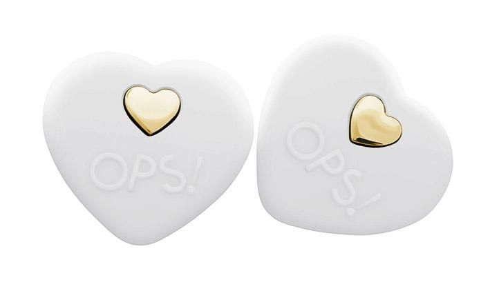 OPS! Beat, #white #silicone #earrings, @opsobjects