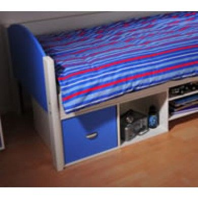 Smart wooden cube unit to add extra storage, doors can be fitted to keep things looking tidy.