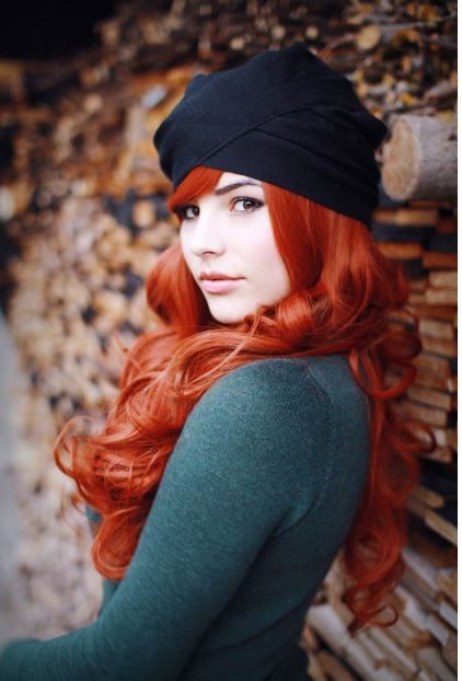 Beyaz tene yakışan kızıl saç renkleri 2017