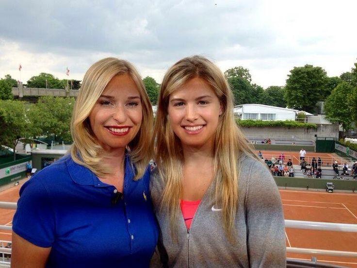 """Barbara Schett-Eagle and Eugenie """"Genie"""" Bouchard who is on a 9 Match winning streak into the 1/4 finals @Roland Hernandez Garros"""