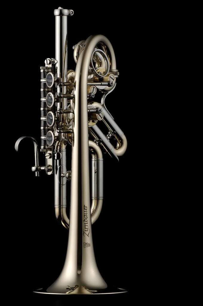 Zirnbauer Piccolo Trumpet... beautiful... looks like a whole new horn critter…
