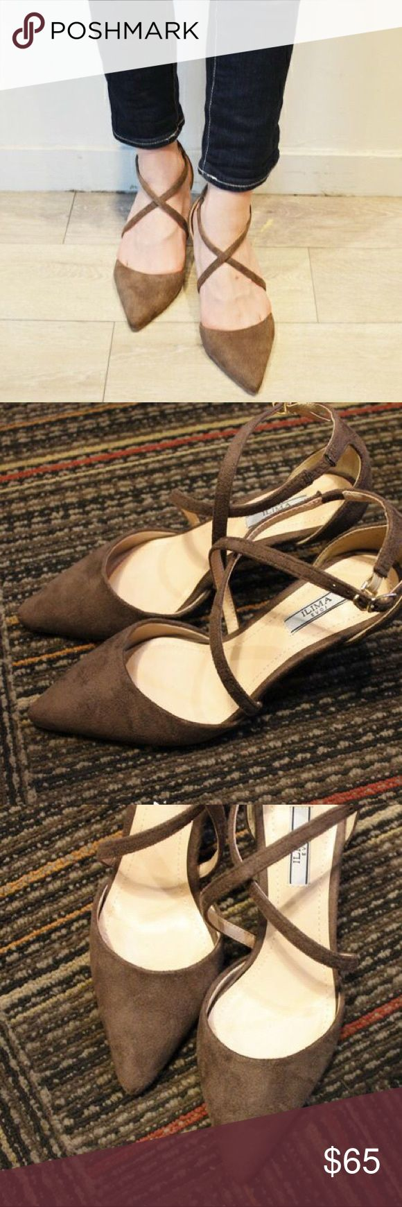 ❤️MustGo❤️ brown high heel lace up 5cm height heel Brand is ILIMA from Japan. Tag Zara for exposure! Very comfortable to wear daily for work/school/shopping Fashionable design good for date night out!  Only worn once, in excellent condition! I'm going to move to a new city next year, so try to sell everything! Take reasonable offer, no trade no lowball Make an offer and it's yours!  Thank you  Zara Shoes Heels