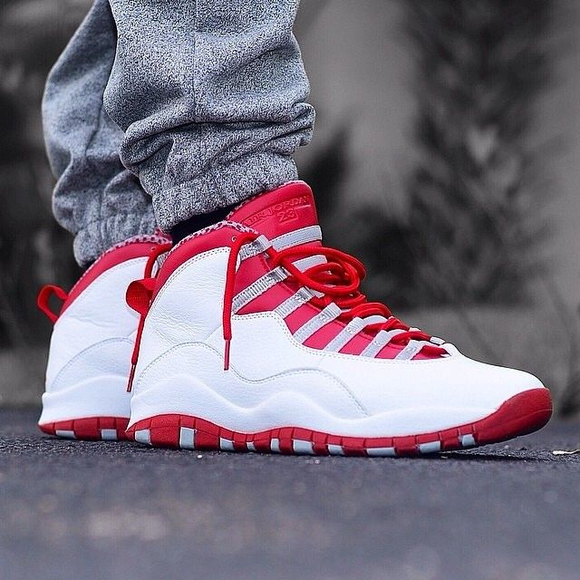 3af8486293d uk air jordan 10 white varsity red steel my addiction 3 pinterest shoes  jordans and sneakers